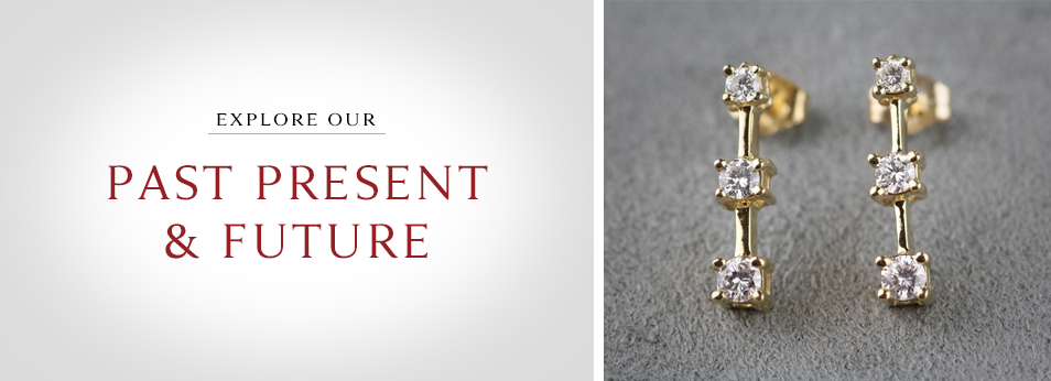 Browse Our Fascinating Collection Of Alluring Past Present Future Earrings To Express Your Perpetual Commitment